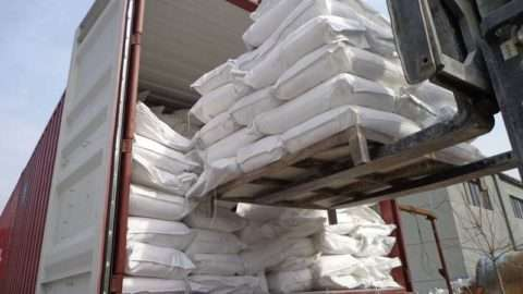 alumina powder loading